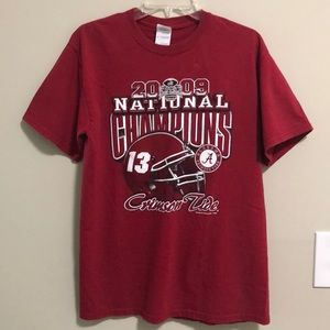 Gildan Tee Shirt top SZ M Alabama 2009 champions